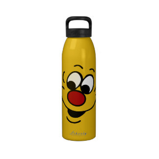 Distracted Smiley Face Grumpey Drinking Bottles