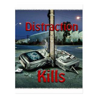 Distraction Kills Postcard