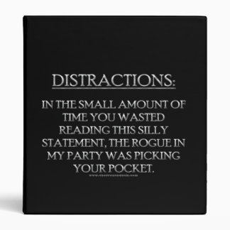 Distractions 3 Ring Binder
