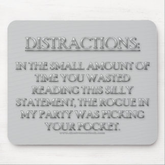 Distractions Mouse Pad