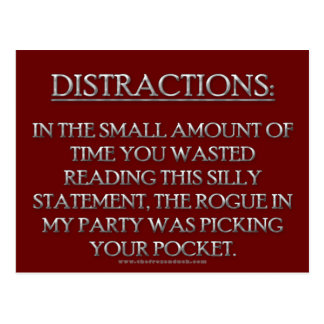 Distractions Postcard