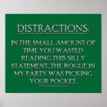 Distractions Print
