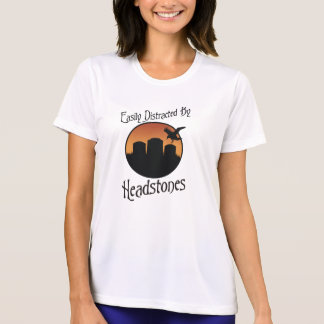 Distraído fácilmente por las lápidas mortuorias t-shirt