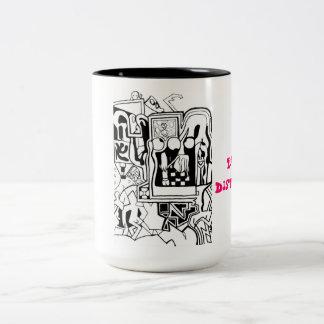 Distraído fácilmente taza de café