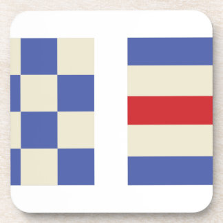 Distress Flags Beverage Coaster