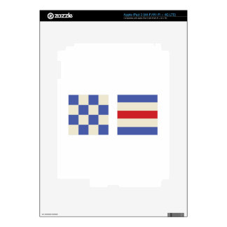 Distress Flags Decals For iPad 3