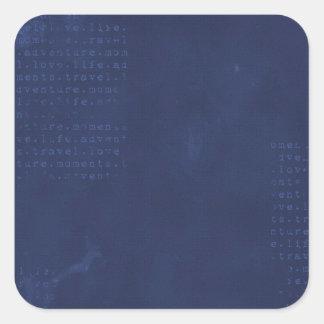 DISTRESSED29 DARK BLUE TEXTURES GRUNGE TYPED ADVEN STICKER