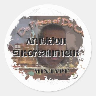 Distressed 2 Round Stickers