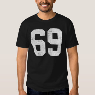 Distressed 69 Sport Number Tee Shirt