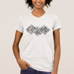 Distressed Abstract Geometric - Greyscale T-shirts