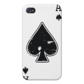 Distressed Ace of Spade iphone case