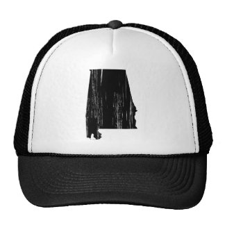 Distressed Alabama State Outline Trucker Hat