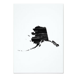 Distressed Alaska State Outline Card