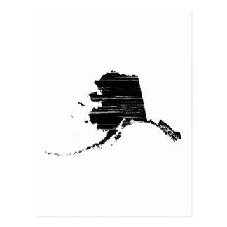 Distressed Alaska State Outline Postcard