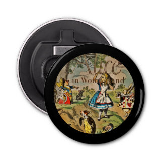 Distressed Alice and Friends Book Cover Bottle Opener