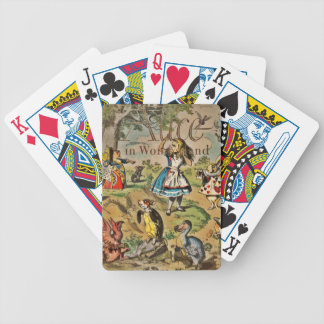 Distressed Alice and Friends Cover Bicycle Playing Cards
