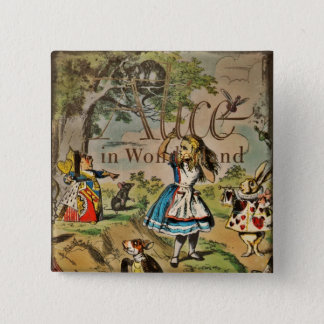 Distressed Alice and Friends Cover Button