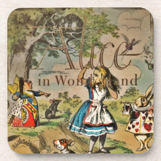 Distressed Alice and Friends Cover Coaster