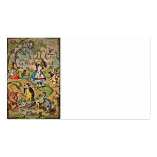 Distressed Alice and Friends Cover Double-Sided Standard Business Cards (Pack Of 100)