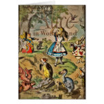 Distressed Alice and Friends Cover Greeting Card
