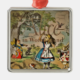 Distressed Alice and Friends Cover Metal Ornament