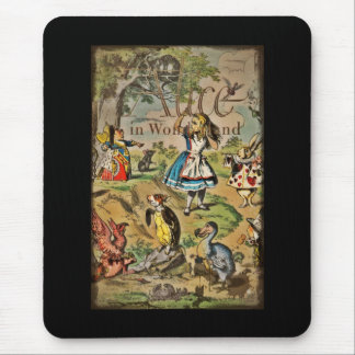 Distressed Alice and Friends Cover Mouse Pad