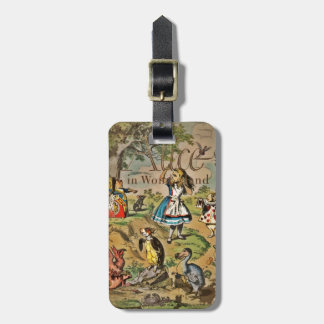 Distressed Alice and Friends Cover Tag For Luggage