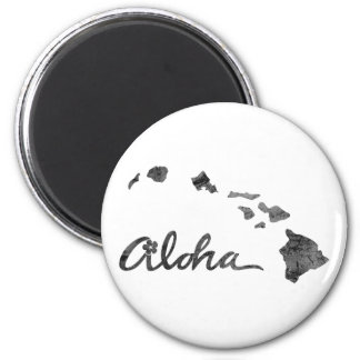 Distressed Aloha Island 2 Inch Round Magnet