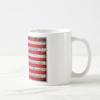 Distressed American Flag And Second Amendment Coffee Mug