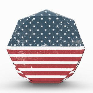 distressed american flag award