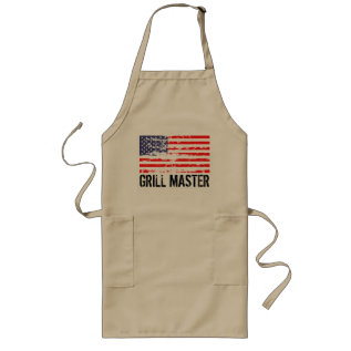 Distressed American Flag Bbq Apron | Grill Master at Zazzle