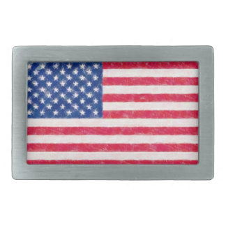 Distressed American Flag Belt Buckle