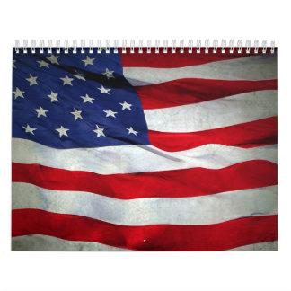 Distressed American Flag Calendar