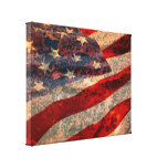 Distressed American Flag Canvas Print