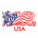 Distressed American Flag - Customizable Post Cards