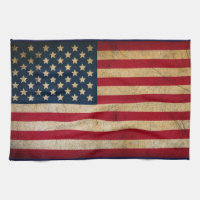Distressed American Flag Golf Towel