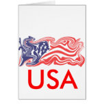 Distressed American Flag Greeting Cards