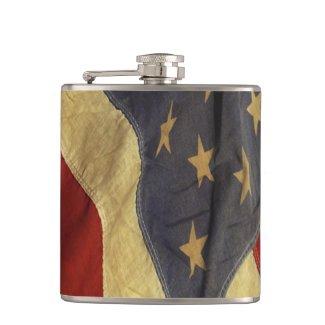 Distressed American Flag Hip Flasks