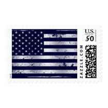 Distressed American Flag II Postage Stamp