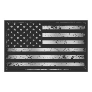 Distressed American Flag II Poster