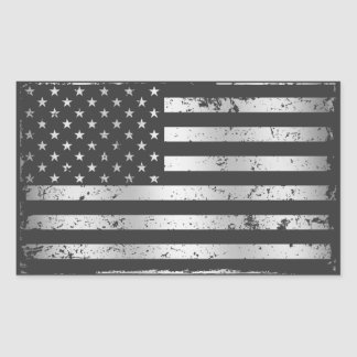 Distressed American Flag II Sticker