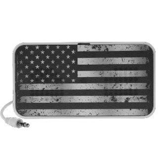 Distressed American Flag II USB Speaker