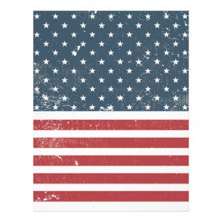 distressed american flag letterhead