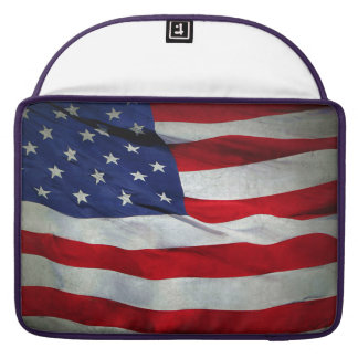 Distressed American Flag Sleeve For MacBooks