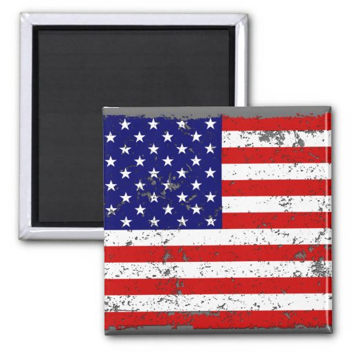 Distressed American Flag Magnet