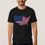 Distressed American Flag Map Shirt