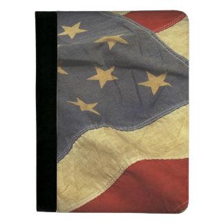 Distressed American Flag Padfolio