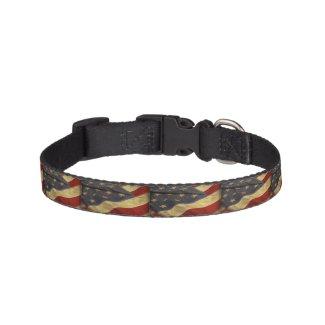 Distressed American Flag Pet Collar