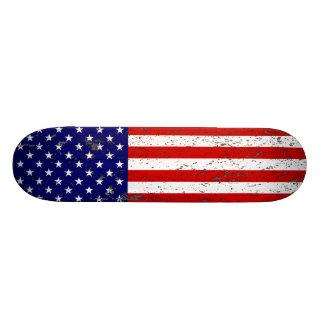 Distressed American Flag Skateboard