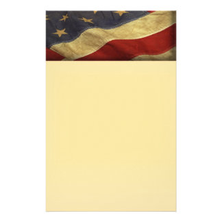Distressed American Flag Customized Stationery